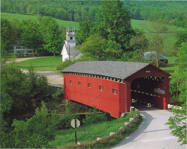 Covered Bridge In Vermont Postcard