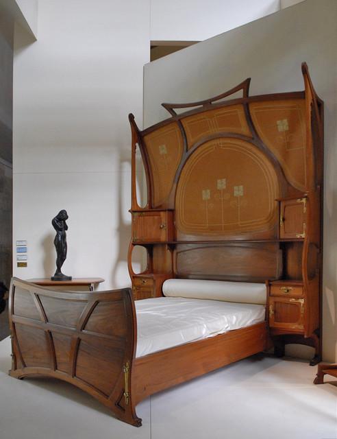 Chambre art nouveau (Musée d\'Orsay) | Lit, modèle créé en 18 ...