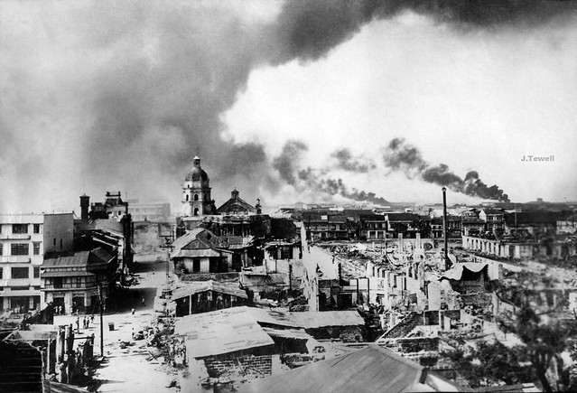 Manila burning, Battle for Manila Feb. 5, 1945