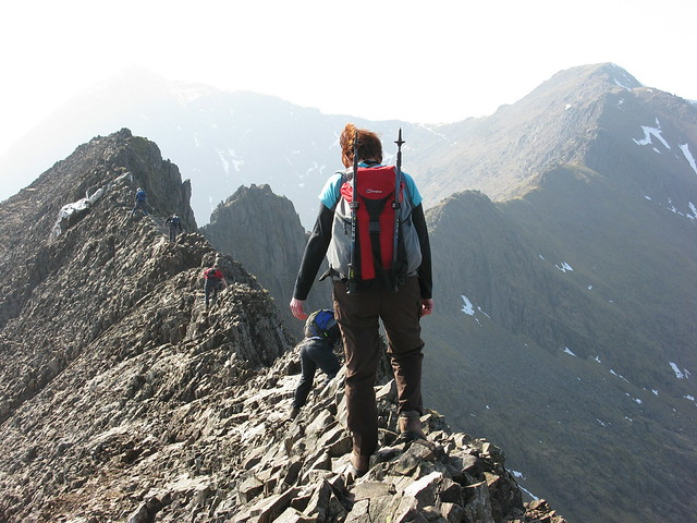 Acsent of Crib Goch as part of the Snowdon horseshoe