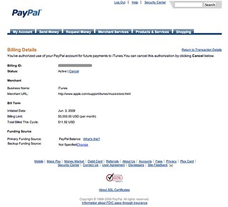 Billing Agreement Details - PayPal | by factoryjoe