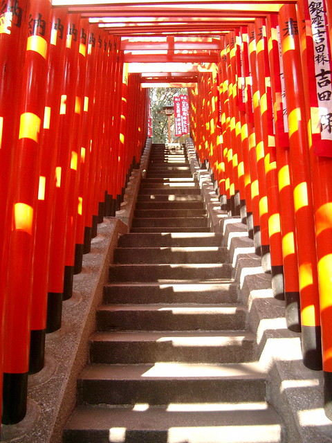 Stairs to a Tokyo shrine