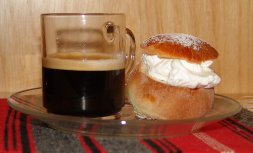 Happy FAT Tuesday!  (Fat Tuesday Bun and Double espresso!)