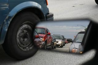traffic in the rearview mirror | by grendelkhan
