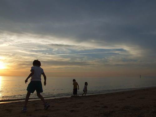 sunset sea sky silhouette japan backlight geotagged 日本 geolat343388869 geolon1347342547