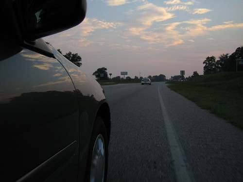 alabama south usa daleville car highway sunset clouds