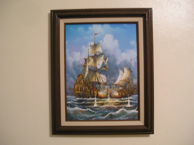 Ship Painting Hanging On The Wall Stephen Duncan Flickr