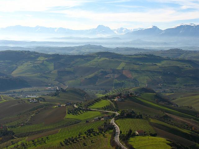 View from Ripatransone, Marche, Italy