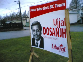 Ujj Dosanjh re-election sign | by roland