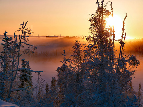 Sun and Ice Fog on Boot Lake | by MDM Photography / Eclecticblogs