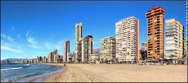 Benidorm, playa de Levante.