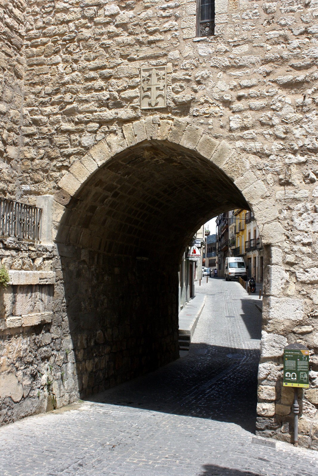 Arch in the streets of Jaén's old town, Spain