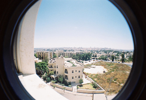 film analog buildings landscape israel lomo view kodak jerusalem fisheye 200