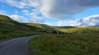 Mountain road near Craig y Fan Ddu and Blaen y Glyn, Brecon Beacons   by pluralzed