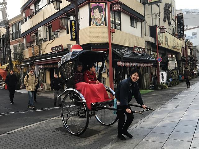 Jinrikisha at Asakusa