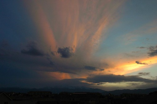 sky colors beautiful clouds colorado coloradosprings pikespeak backporch