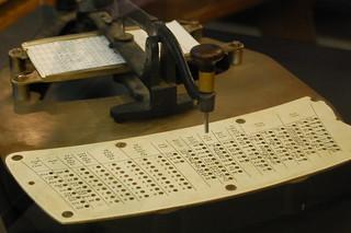 Census punch card reader