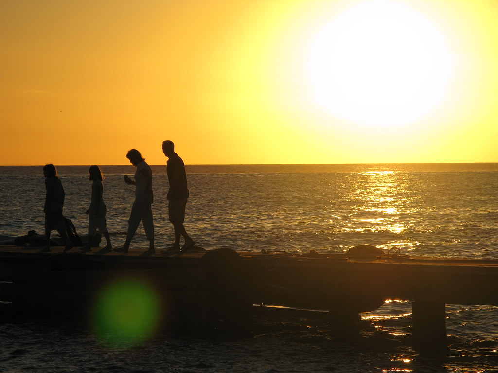 Family   This Family watched the sunset over the Caribbean S…   Flickr