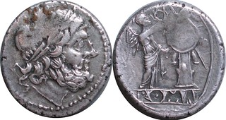 96/1 #0707-32 Anonymous incuse Spain Scipio Africanus Jupiter Victory trophy Victoriatus | by Ahala