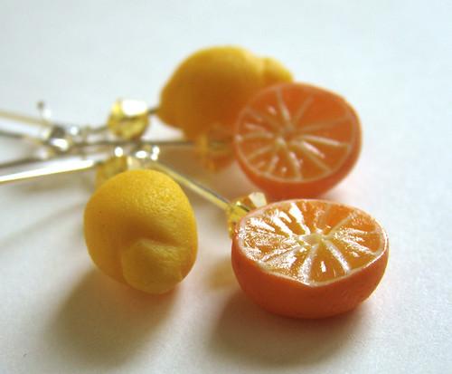 Miniature Citrus Earrings | by PetitPlat - Stephanie Kilgast