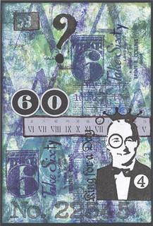 Sunday Postcard Art - Numbers - 60