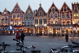 Grote Markt Restaurants by Night, Bruges | by Rich B-S