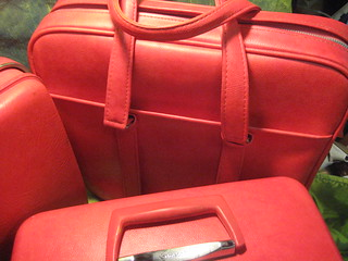 Vintage Red Luggage Trio | by HousingWorksPhotos