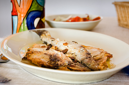 Lubina A La Espaldaskin Side Down Sea Bass Receta Recipe