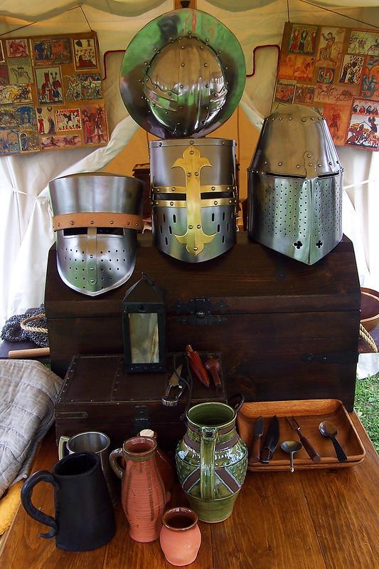 Medieval tent display