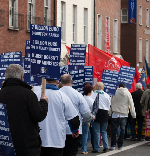 Protest March - Organised By The Unions   by infomatique
