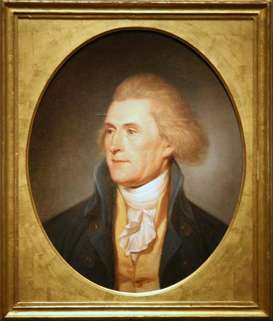 Thomas Jefferson Thomas Jefferson 1791 Oil On Canvas By Flickr
