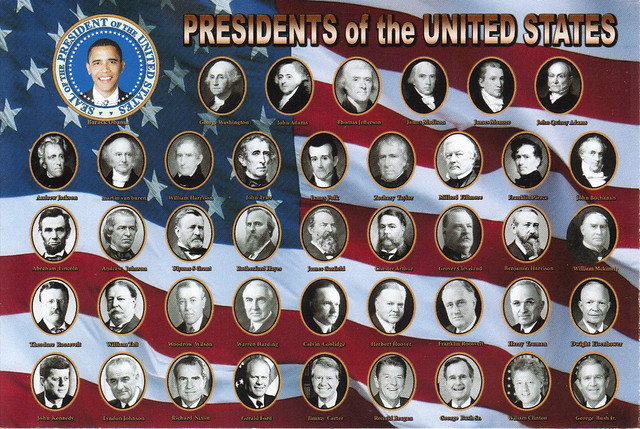 Presidents of the United States Postcard