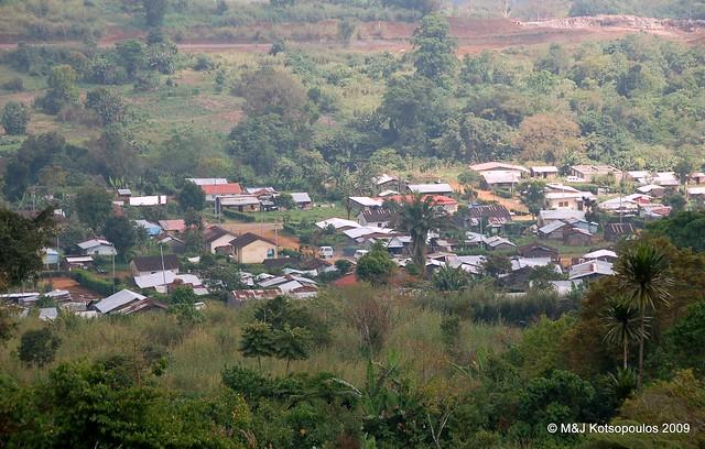 The mountain town of Moka