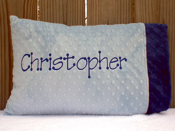 Personalized Toddler Minky Pillows