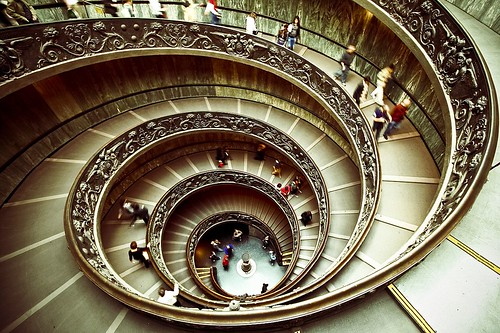 people italy motion blur rome stairs spiral interestingness wideangle stairway explore staircase vaticanmuseum vaticancity efs1022mmf3545 canonxti explore20090426