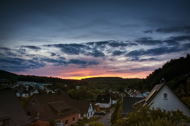 Sunset in Weidelbach (Germany)