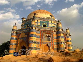 Shrine of Bibi Jawindi, Uch Sharif, Pakistan.   by S.M.Rafiq
