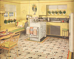 armstrong yellow kitchen | 1941 Yellow & Green Armstrong Kitchen | From the mid-30s ...
