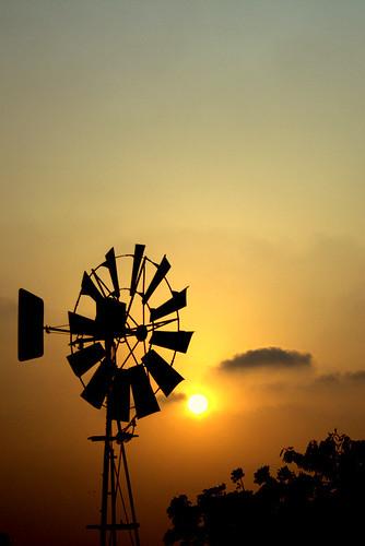 sunset nature silhouette energy wind machine goldenhour windenergy windmachine beautifulnature colorsofnature beautifuleve