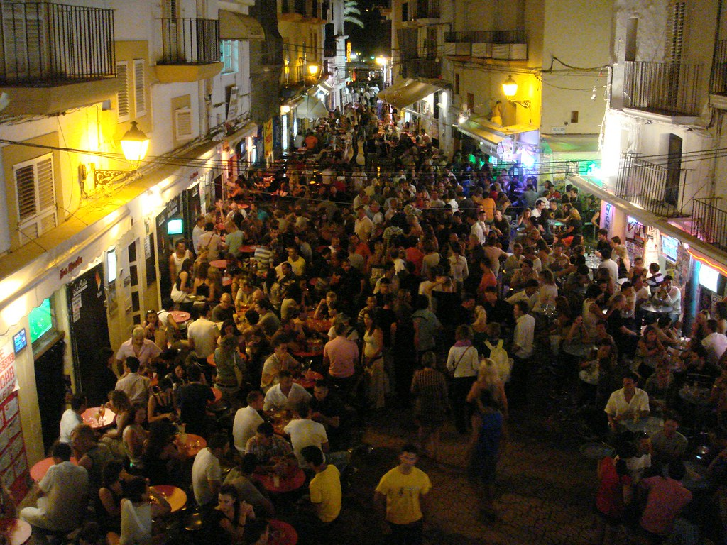 Ibiza Terraza La Biela Bar Calle Barcelona Ibiza Puerto En