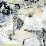 Poppo's Garden (2009) Oil on canvas, ink, pigment 1850x1080x60mm