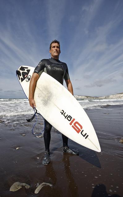 Superhero surfer