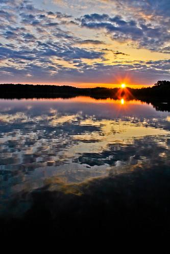 pink trees sunset lake water clouds purple yellowred may8 stumpylake 2011canont2i