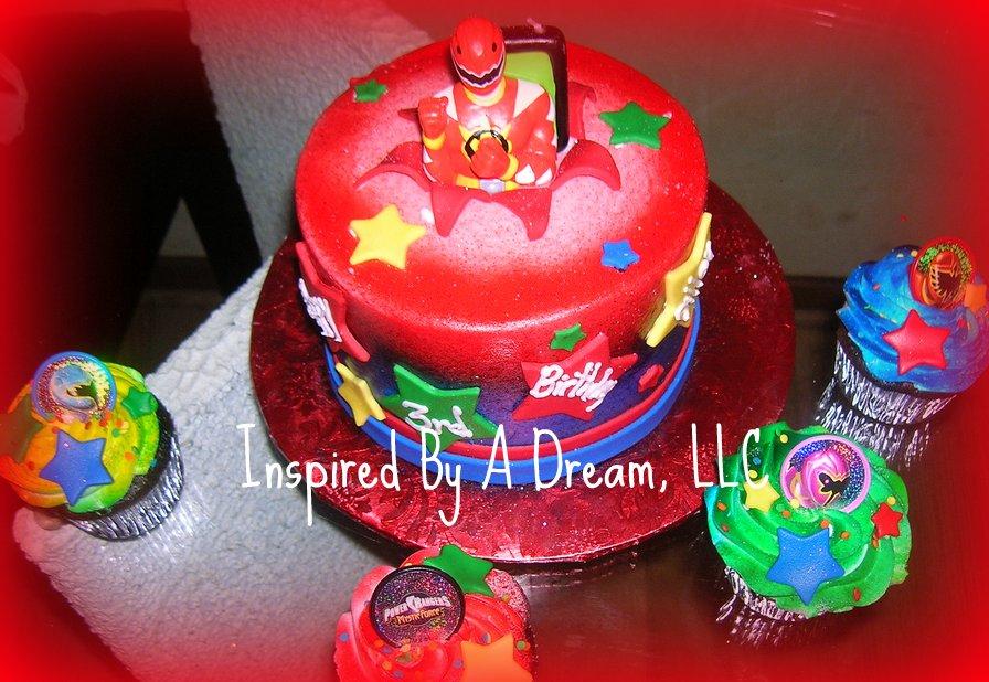 Peachy Power Ranger Cake A Photo On Flickriver Birthday Cards Printable Opercafe Filternl