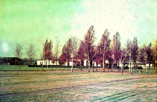 Waterloo Barracks -Loddenheide Muenster -1968 (viewed from Buller Bks) Polaroid Land Camera