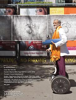 Dharma Mittra with Jade yoga mat