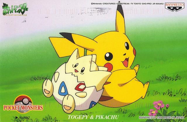 Pikachu & Togepi Postcard