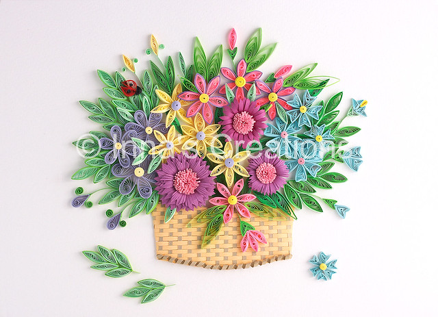 Flower Basket Paper Quilling Created By Inna Increations Flickr