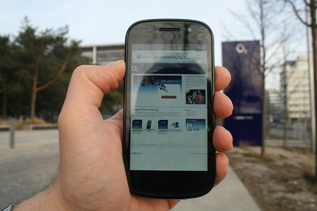 Google Nexus S Seitenansicht Vor Der O2 Zentrale In Münche Flickr