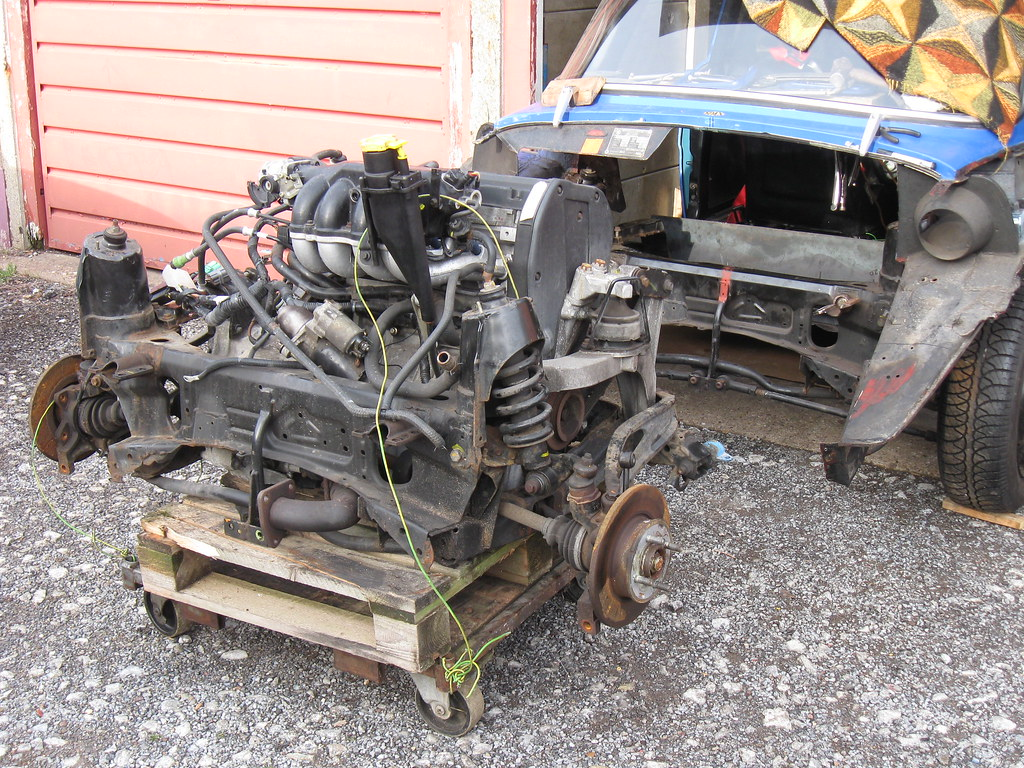 Rover K series engine and g box waiting to go into my skod